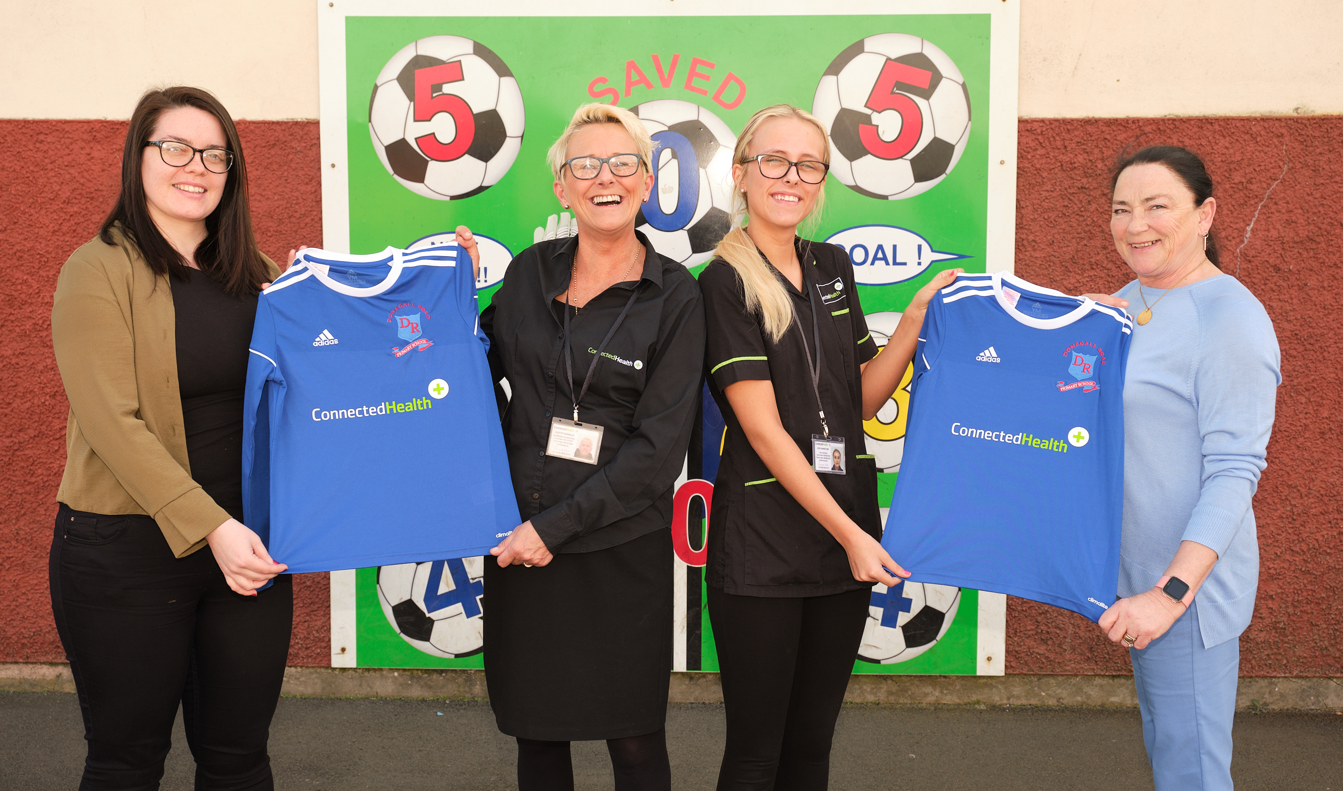 Connected Health named as Football Kit Sponsors for Donegall Road Primary School, Belfast.